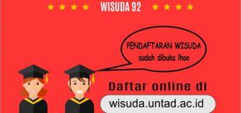 Pendaftaran Wisuda Ke-92